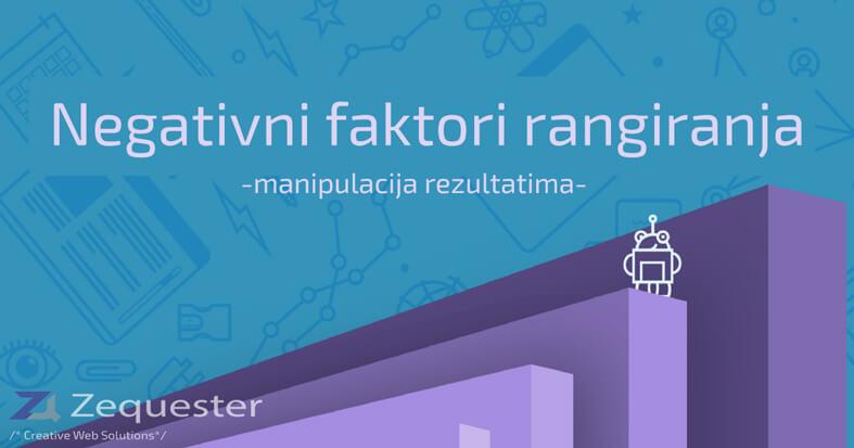 Read more about the article Negativni faktori rangiranja/manipulacija rezultatima